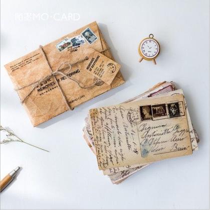 30Pcs-pack-Retro-memories-of-yellowed-old-letters-Nostalgic-Past-Postcard-Greeting-Card-Envelope-Gift-Birthday_jpg_640x640